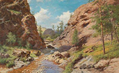 Oil Painting repro Ivan Avgustovich Welz In the Crimean Mountains