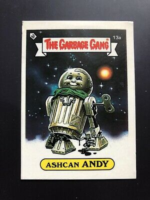 The Garbage Gang Ashcan Andy 13a 1985 Card Sticker Vintage