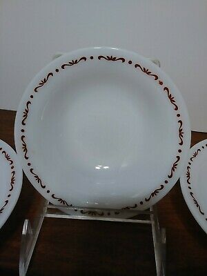 "Vintage Anchor Hocking Fireking 5 1/2"" Milk glass Berry Bowls 937 filligree"