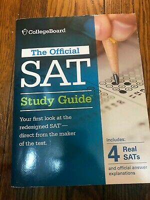 OFFICIAL SAT STUDY Guide Review Book CollegeBoard w/ 8 Real