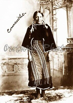 1890'S Comanche Native American Indian Woman Photo