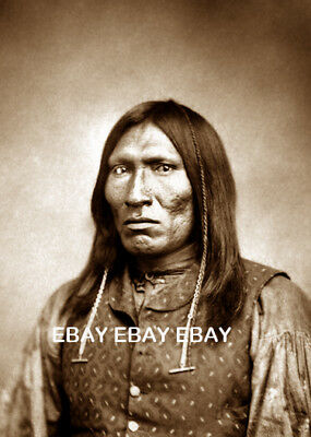 1870'S Ho-Wear Comanche Native American Indian Chief Fort Sill Oklahoma Ok Photo