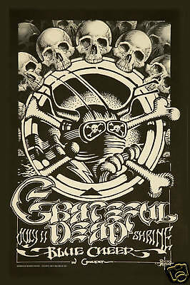 Jerry Garcia & Grateful Dead at  The Shrine in Los Angeles Concert Poster 1968