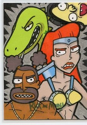 Ball Fondlers Sketch Card 2018 Rick and Morty Cryptozoic Season 1 Holly Ringsell