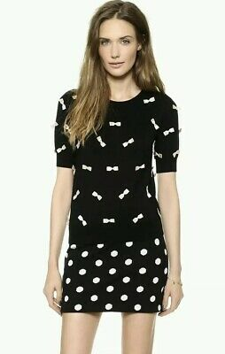 fff7ae4dd07 ALICE + OLIVIA Be Nice Or Leave Black Sweater Wool Knit Top Size S ...