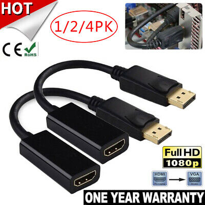 DP HDMI DP Display Port Male to HDMI Female Cable Converter Adapter 1080P HD