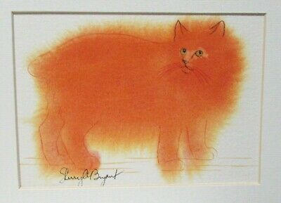 Sherry A Bryant Cat Original Watercolor Painting With Certificate Of Authenticty