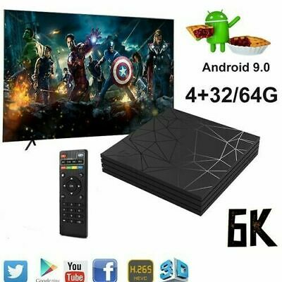 Tv Box Q6 Plus 6K Max 4Gb 64Gb Android 9.0 4K Tv Box Wi-Fi Iptv 4 Core Wifi