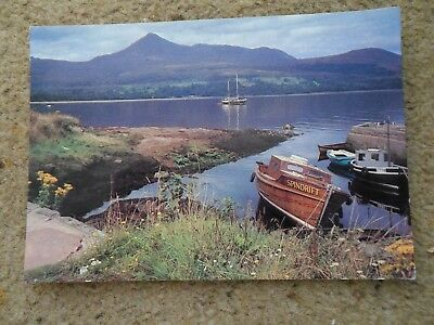 .postcard.brodick Bay And Goatfell.isle Of Arren.pub.pavilion.see Boats.