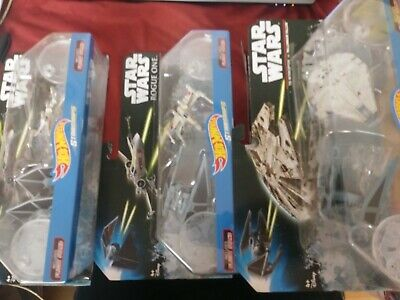 Case Of 4 Hot Wheels Starships Assorted Toys Figurines Childrens Kids Star Wars