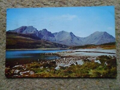 Postcard.loch Slapin And Blaven,isle Of Skye.posted 4 8.1968.