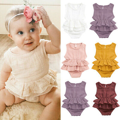 Toddlerr Baby Girls Ruffle Romper Bodysuit Jumpsuit Sunsuit Outfits Clothes h8