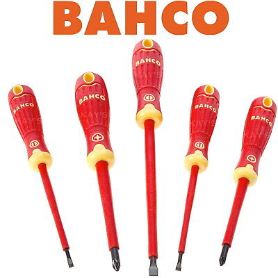Bahco 5 Piece Insulated Screwdriver Set, Pozidrive & Slotted Vde 1000V B220.015