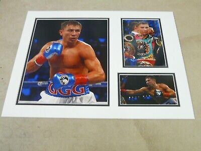 Gennady Golovkin Originally Signed Double Mounted Display Uacc Aftal