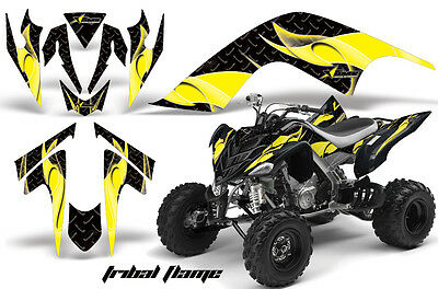 ATV Graphics Kit Quad Decal Sticker Wrap For Yamaha Raptor 700 06-12 TRIBAL Y K