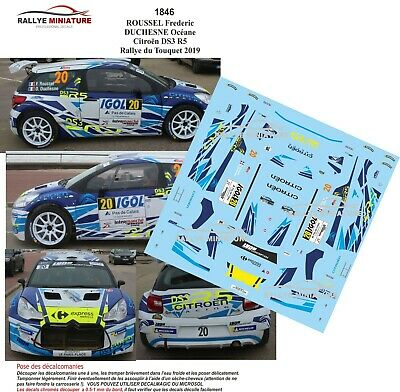 DECALS 1//43 REF 1602 CITROEN DS3 R5 AMOURETTE RALLYE DU TOUQUET 2018 RALLY