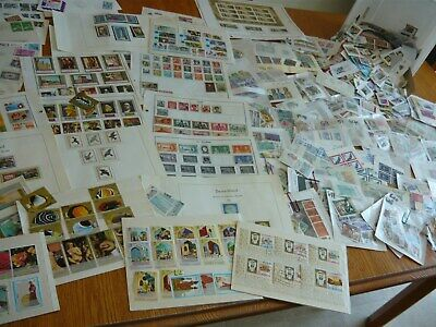 Lot#  B  ONE POUND WORLDWIDE Box Lot of Stamps On and Off paper, Album Pages ,SS