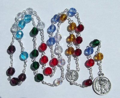 St. Michael Archangel Angelic Crown Chaplet with St Benedict Medal
