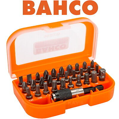 Bahco 31 Piece Screwdriver Drive Bits Set With Case Ph, Pozi, Torx, Slot, S31B