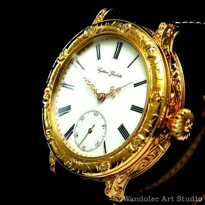 Systeme GLASHUTTE Vintage Men's Wrist Watch Gold Classic Mens Wristwatch German