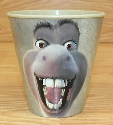 Denny's Restaurant Dreamworks Shrek Donkey Plastic Collectible Cup **READ**