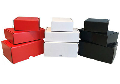 Small Boxes | x 15 Red, Black & White Cardboard Boxes | Choose your Size