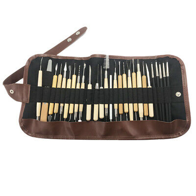 27x Clay Sculpting Wax Carving Pottery Tools Polymer Ceramic Modeling Tools