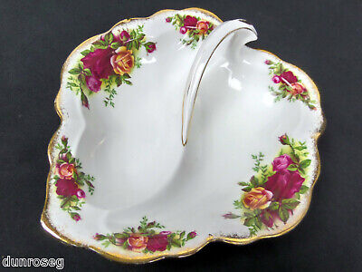 Old Country Roses Divided / Pickle Dish, 1962-73, Made In England. Royal Albert