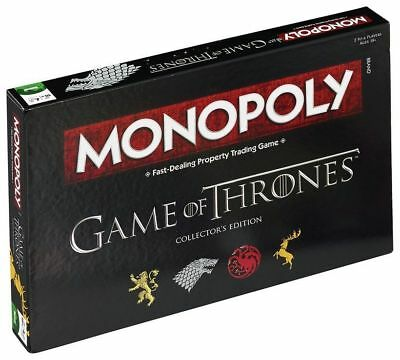 2019UK Game of Thrones Monopoly-Collector's Edition Board Game Family=Party Game