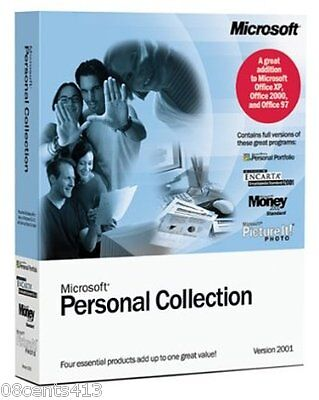 Microsoft (X08-16318) Personal Collection Version 2001 PC Software NEW