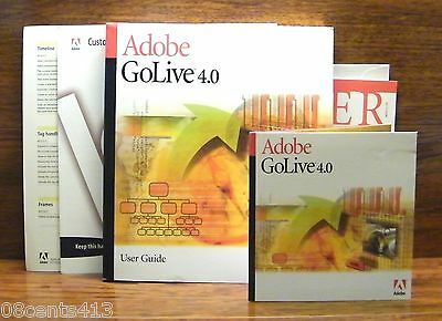 Adobe GoLive 4.0 for Windows Software, Registration Card & Used Guide