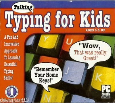 Cosmi Talking Typing for Kids (Windows) Learn Essential Keyboarding Skills! NEW