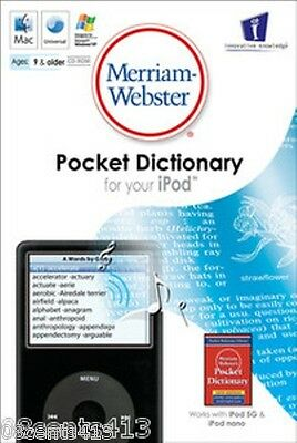 Merriam-Websters Pocket Dictionary for Your iPod + Bonus Britannica Concise