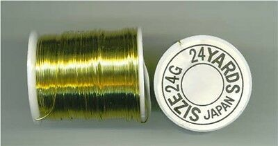 "Beading Wire..#24 Gold...""Made In Japan""...3 Dozen Spools (36))."