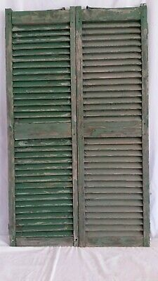 "Antique Victorian Pair Wood Shutters Peg,Mortise & Tenon 16""X 54"" House Window"