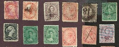Canada Decimal Issue, Small Faults   (Oct9,2