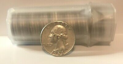 FULL DATES Roll Of 40 $10 Face Value 90% Silver Washington Quarters