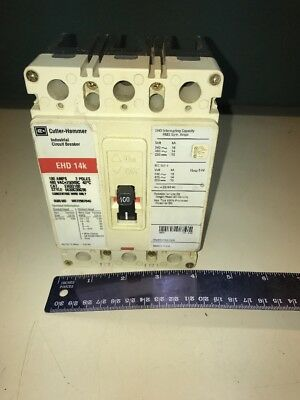 Cutler Hammer Industrial Circuit Breaker Model Ehd3100