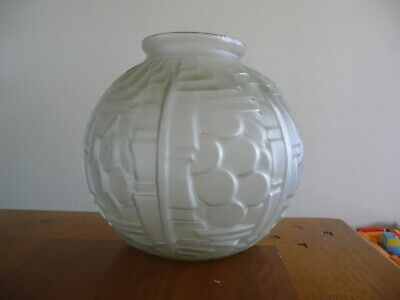 Vase boule en verre , art déco , Made in France