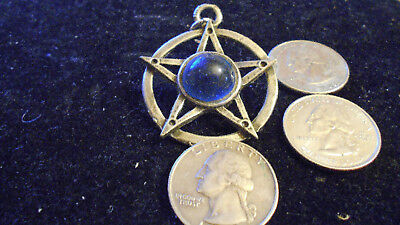 bling pewter 5 point star myth witch wizard pagan pendant charm necklace jewelry