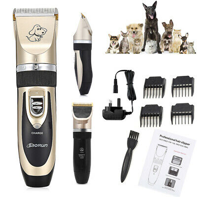 Pet Shave Clipper Hair Low Noise Electric Cordless Dog Cat Grooming Trimming Kit
