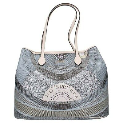 7f6614d649 BORSA DONNA GATTINONI Planetarium Shopping Large Bag Luna Off White ...
