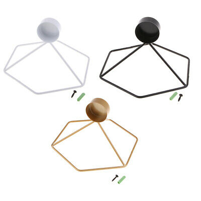 Nordic Geometric 3D Metal Wall Sconce Candle Holders Tea Light Wall Mounted