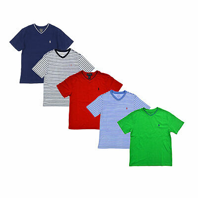 Polo Ralph Lauren Boys V-Neck T-Shirt Casual Pony Logo S M L Xl New Nwt