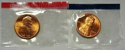 1984-P and 1984-D CH BU Lincoln Cents in Original Mint Cello Packs   DUTCH