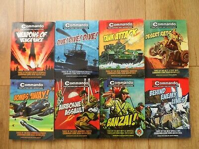COMMANDO COMIC BOOK COLLECTION x 8 - Three stories in each book