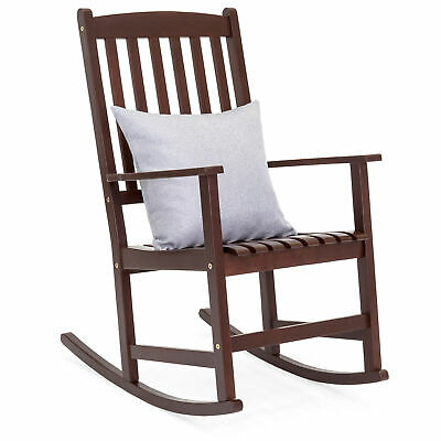 BCP Traditional Wooden Rocking Chair - Brown