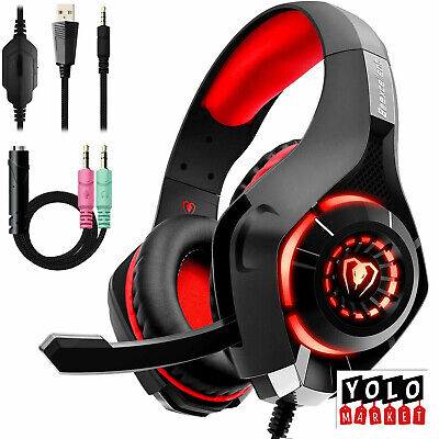 Beexcellent Casque Gaming PS4 Xbox one Casque Gamer avec Micro Anti Bruit LED