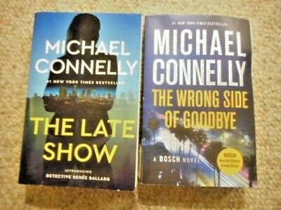 The Late Show & The Wrong Side Of Goodbye Michael Connelly 2 Paperback Books