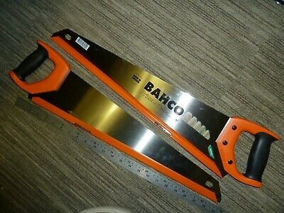 "2 BAHCO 22"" 550mm HANDSAWS PrizeCut Hardpoint Wood Genuine NEW NP-22-U7/8-HP Lot"